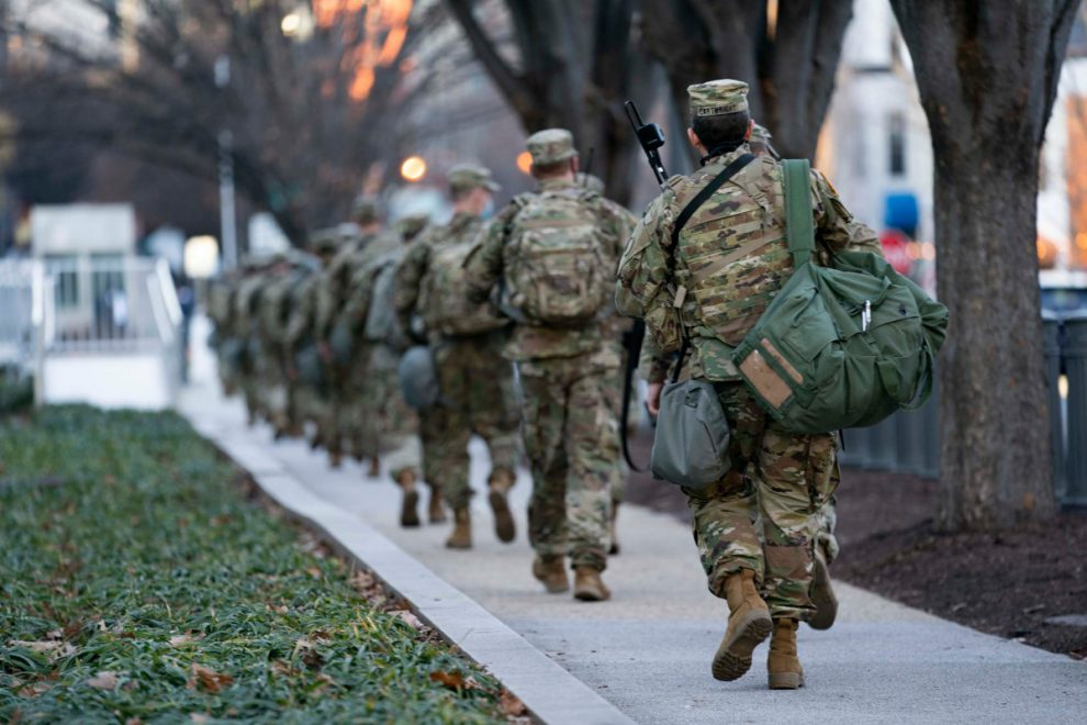 نفي الحرس الوطني من الكابيتول إلى كراج للسيارات في العاصمة واشنطن!