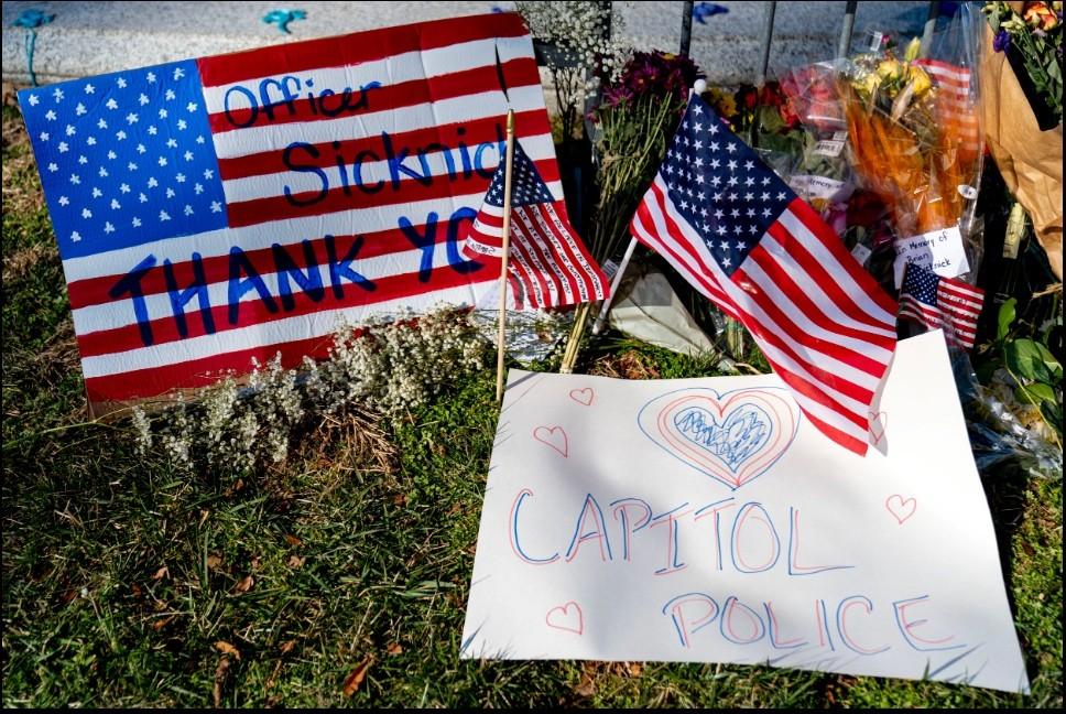 تكريم الضابط الذي توفي بأحداث الشغب في مبنى الكابيتول الأمريكي / 29 يناير