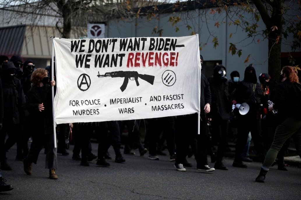 مظاهرات عنيفة في بورتلاند: وحدوث خسائر مادية واعتقالات يوم 20 يناير!