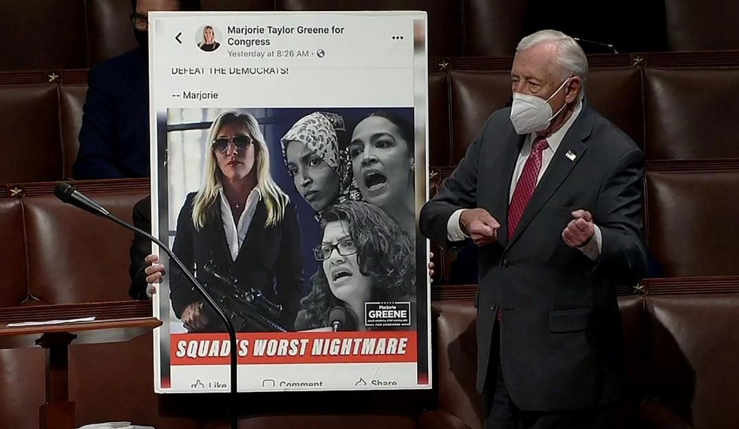 عضوة تعاقب في الكونجرس بسبب تصريحات تحريضية / 4 فبراير