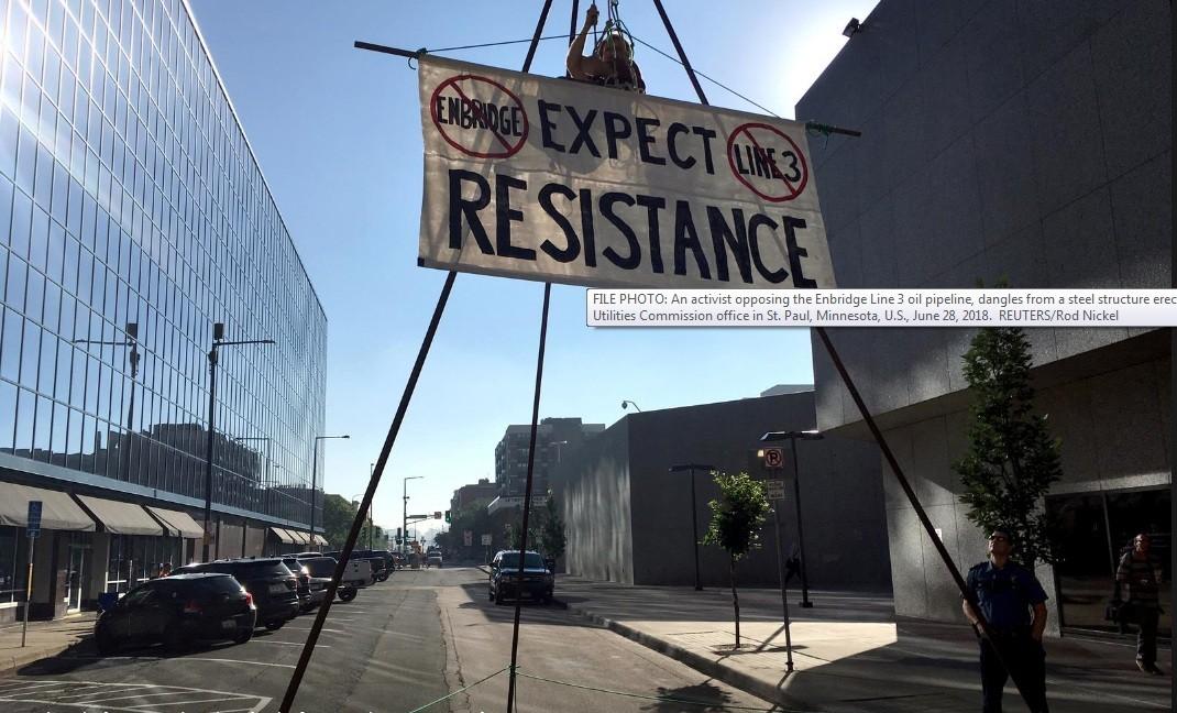 اشتباك دعاة حماية البيئة والنقابات حول خطوط الأنابيب / 1 فبراير