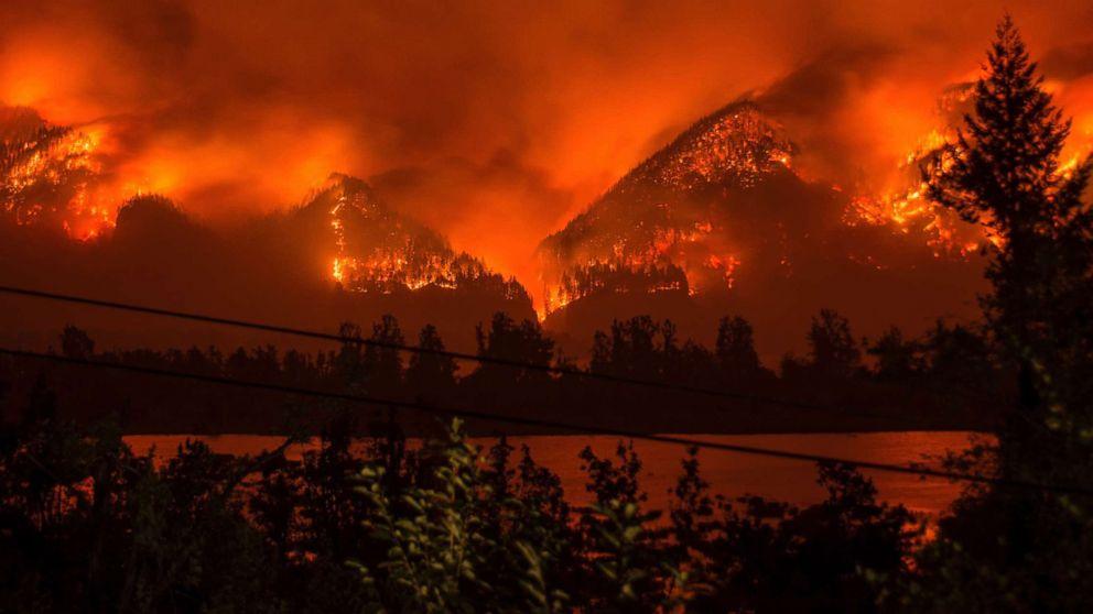 حرائق الغابات الغربية: احتراق أكثر من 300 ألف فدان عبر 6 ولايات