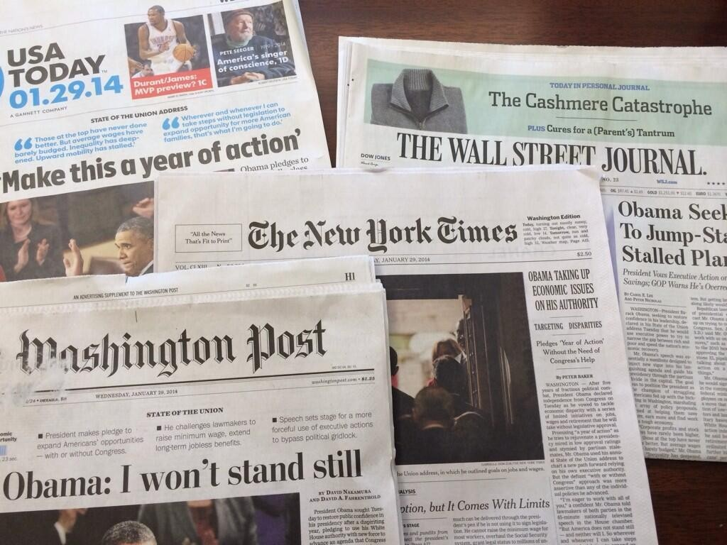 أفضل 10 صحف أمريكية من حيث التوزيع