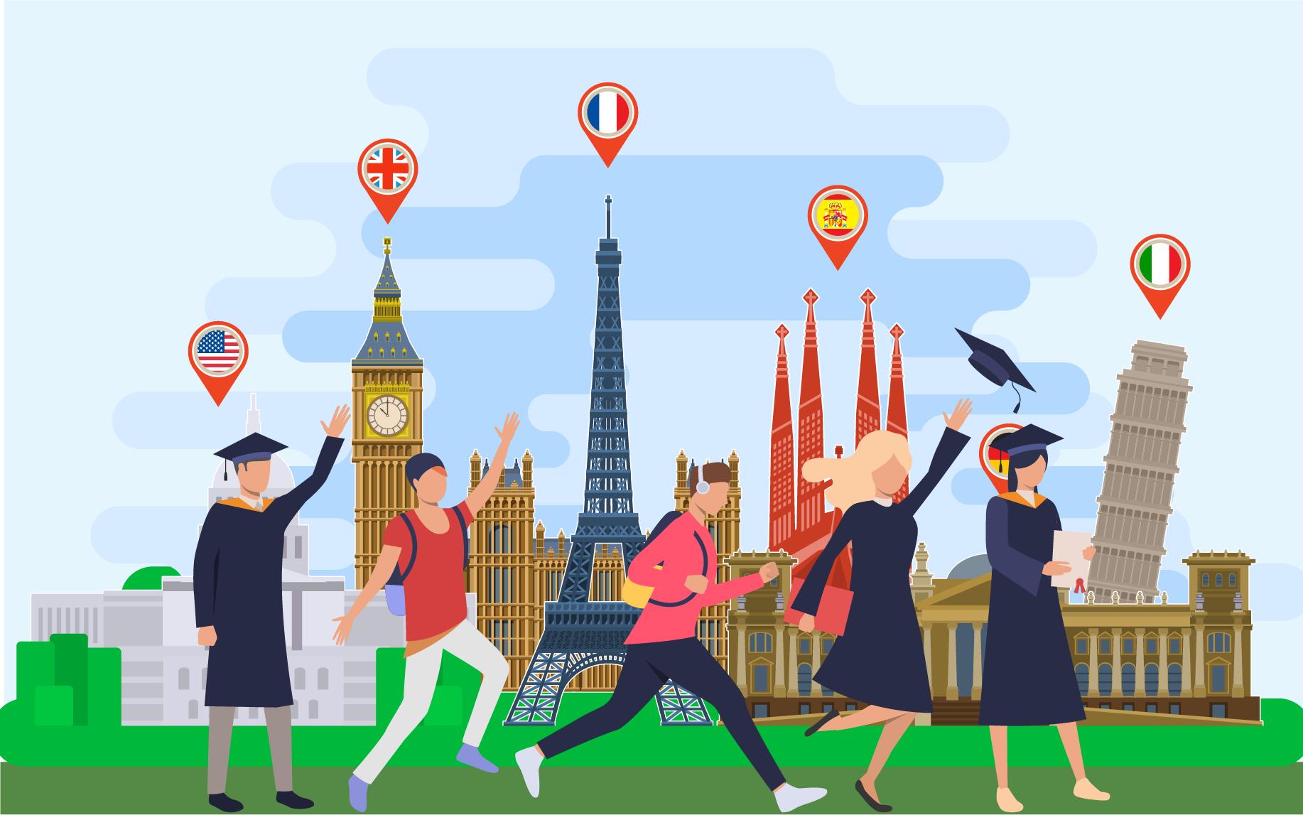 الدراسة في الخارج: 7 مزايا غير متوقعة
