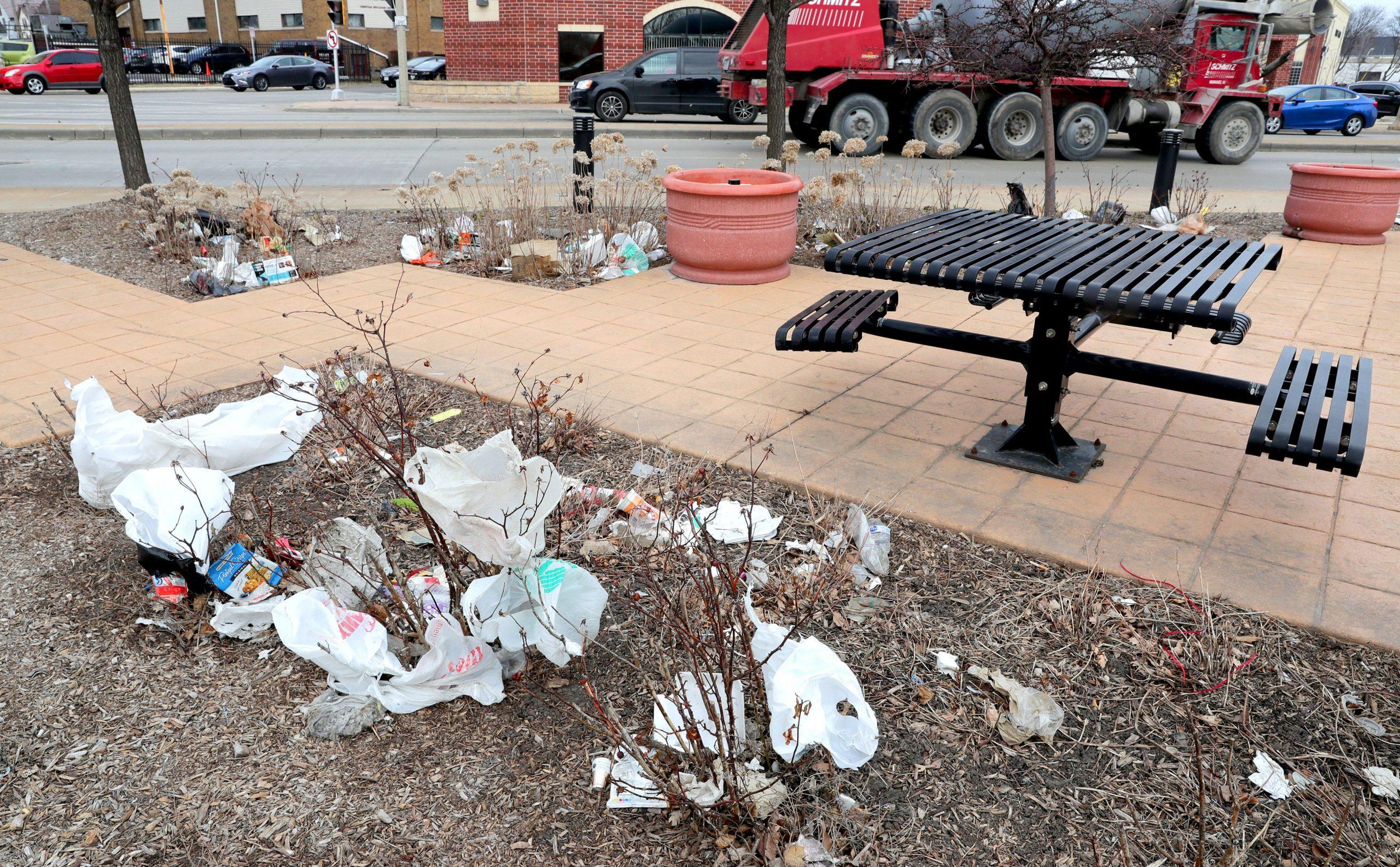 القاء القمامة في الشوارع الامريكية