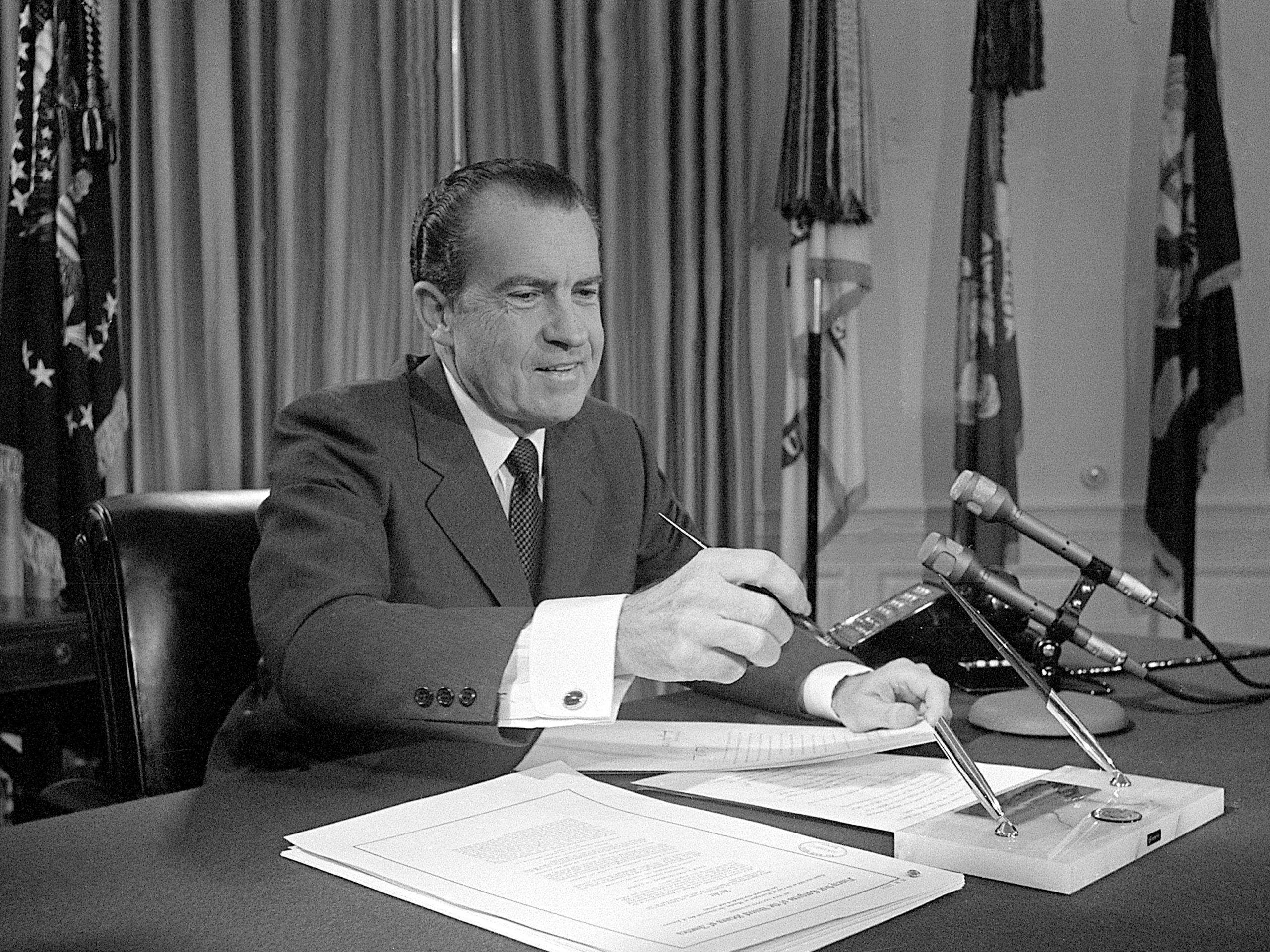 تاريخ امريكا - إدارة ريتشارد نيكسون
